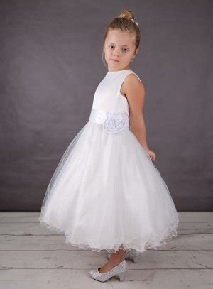 robe de communion blanche tulle paillette  satin