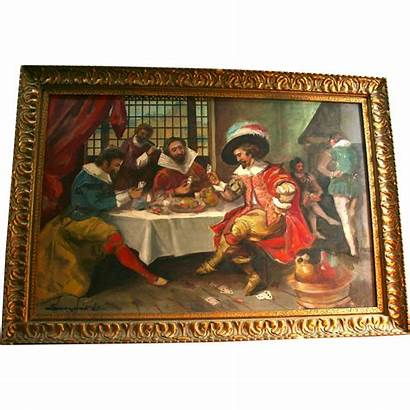 Musketeers French Three Playing Scene Tavern Cards