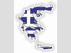 1x STICKER Greece SILHOUETTE FLAG BUMPER DECAL MAP FLAG eBay