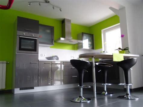 cuisine vert anis et gris déco cuisine gris et vert anis