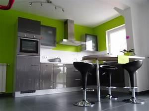 deco cuisine gris et vert anis With cuisine gris et vert
