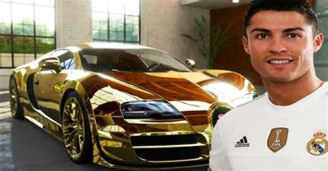 Cristiano ronaldo shows off bugatti veyron as real madrid star feels. Cristiano Ronaldo Latest Car Bugatti