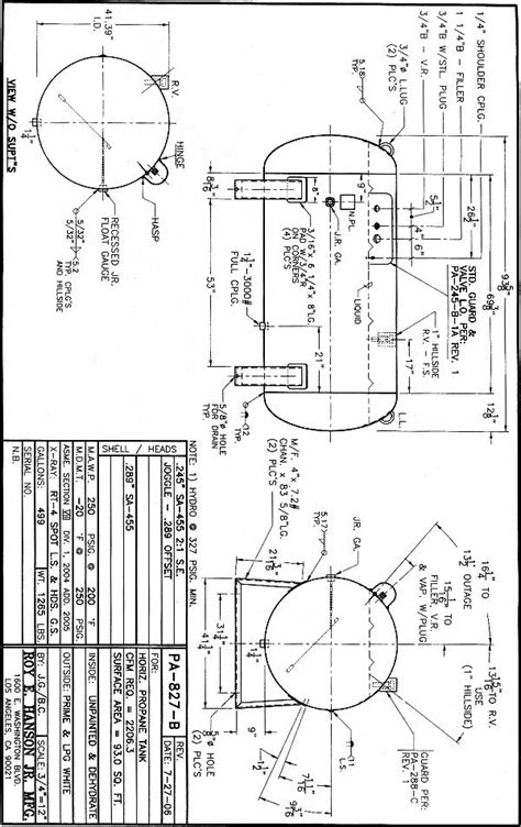 PA-827-B - Hanson Tank Asme Code Pressure Vessel Mfg