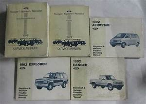 1992 Ford Aerostar Ranger Explorer Service Repair Manual Set  U0026 Wiring Diagrams
