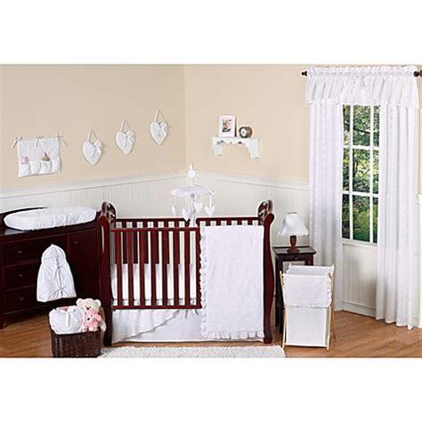 1744 sweet jojo crib bedding sweet jojo designs eyelet crib bedding collection in white