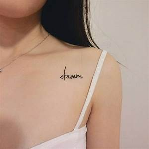 Small Female Chest Tattoo - Amazing Tattoo