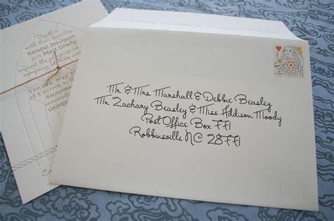 Address Wedding Envelopes