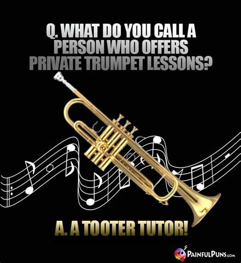 trumpet jokes puns trombone brass music painfulpuns instrument player humor musician