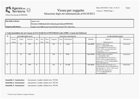 Visure Catastali Cosa Sono by Visura Catastale Ordinaria E Storica Per Soggetto