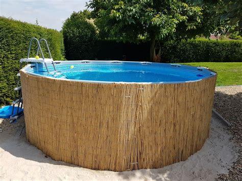 frame pool verkleiden frame pool mit bambusmatten verkleiden geht ganz einfach und schnell und sieht viel sch 246 ner aus