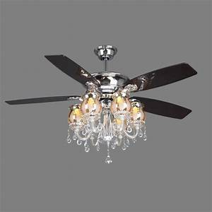 Crystal ceiling fan light rich ways to cool your room