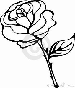 Rose Drawings Black And White - Cliparts.co