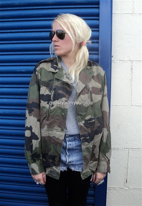 UNISEX URBAN VINTAGE FRENCH ARMY F2 CAMOUFLAGE CAMO JACKET