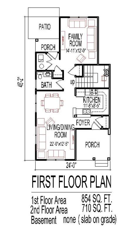 Low Budget House Floor Plans for Small Narrow Lots 3