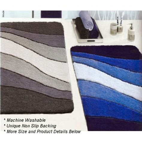 ocean modern ocean themed  slip bathroom rug