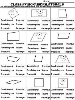classifying quadrilaterals quadrilateral quest game