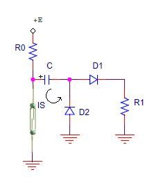 This Circuit Protects Reed Switch From Capacitive