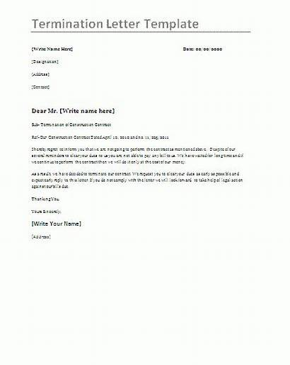 Termination Letter Template Templates Word Format Button