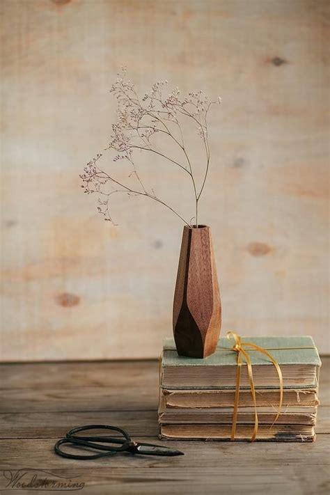 wavy wood vase minimalist flower vase bud vase