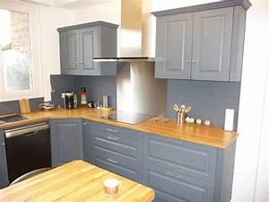 Cuisine equipee chene gris clair cuisines liebart for Idee deco cuisine avec cuisine en bois gris clair