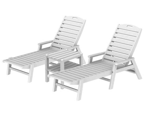 pool furniture supply chaise lounge set recycled plastic two shelf square side