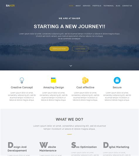 bootstrap themes  website templates