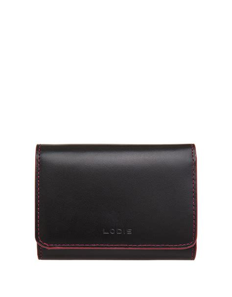 malorry wallet w0132g3 lodis mallory leather purse wallet in black lyst