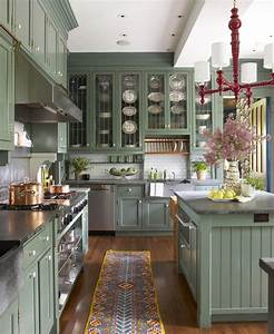 Sage, Green, Kitchen, Cabinets, Painted, 2021