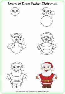 learn to draw father christmas