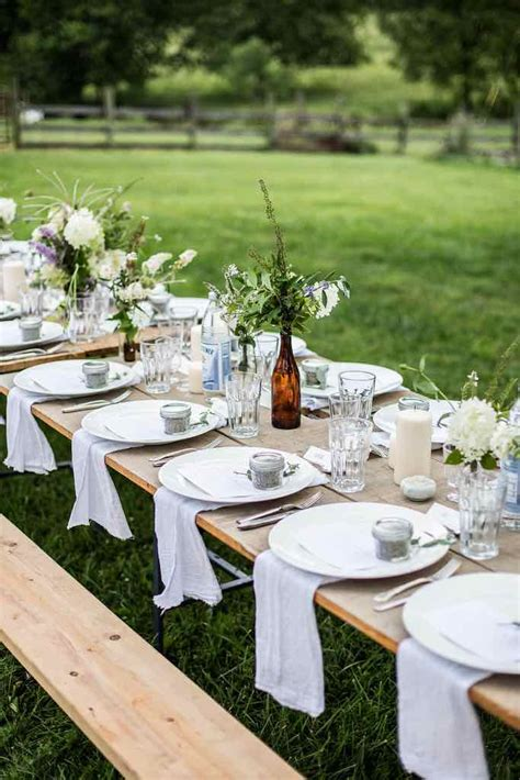Top 20 Rustic Outdoor Table Settings — The Bohemian Wedding