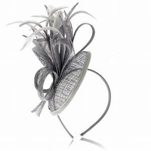 Grey fascinator - Fascinators & Headpieces : Mince His Words