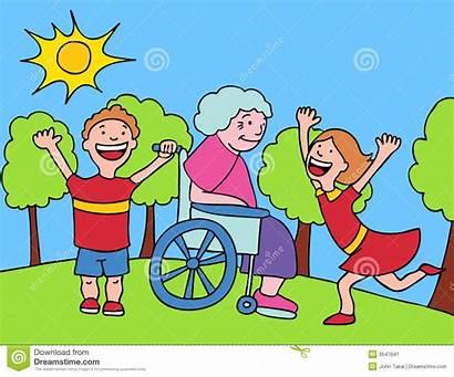 Grandma Visit Clipart Visiting Grandchildren Advertisement
