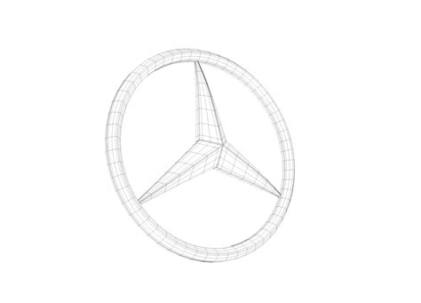 mercedes logo  model  model max obj fbx cd hrc xsi