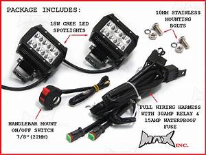 Universal Motorcycle 18 Watt Cree Led Spot    Driving