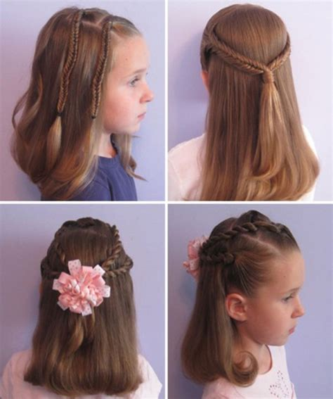 Красивые прически для девочек на длинные средние и короткие волосы простейшие прически для девочек в школу и детский сад на каждый день