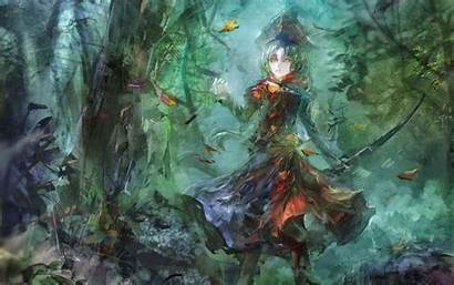 Anime Woods Painting Haired Fantasy