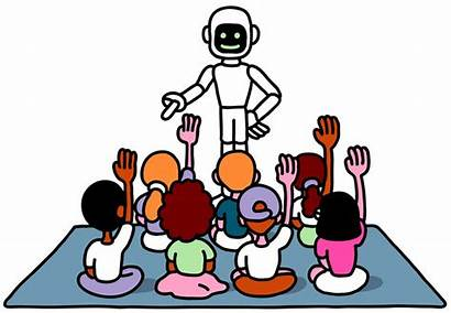 Robot Teacher Children Secret Educational Schools Opinion