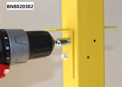 mesh partition systems galvanized metal corner post yellow coated erosion resistant
