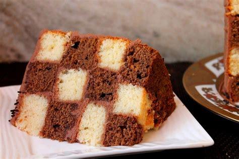 checkerboard cake recipe vanilla chocolate