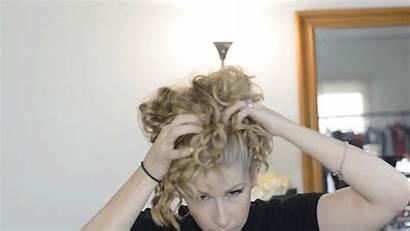 Bun Curly Tutorial Curls Messy Stretch Won