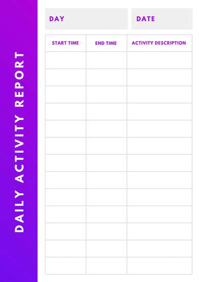 customize  daily report templates  canva