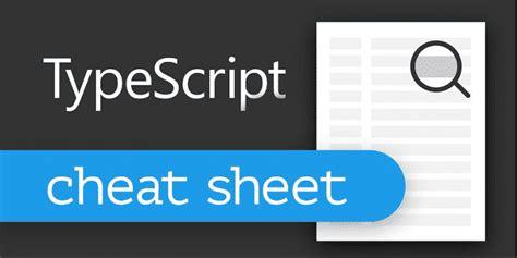 Typescript Programming Cheat Sheet