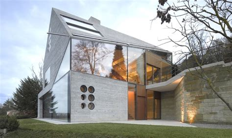 contemporary materials in architecture mountain crystal ultramodern cliffside home made of recycled materials