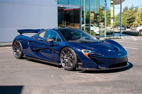 mclaren p  custom blue shade arrives  san