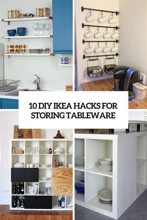 diy ikea hacks  storing tableware   kitchen