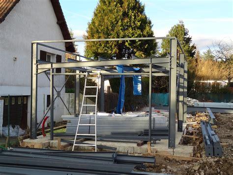 construction maison ossature metallique le garage
