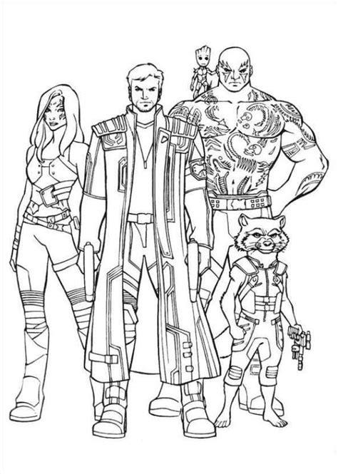 Kleurplaten Marvel by Print Gardiens Of The Galaxy 20 Kleurplaat Marvel