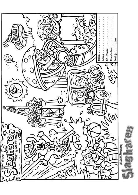 Kleurplaat Drievliet by Kleurplaat Pretpark 187 Animaatjes Nl