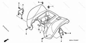 Honda Atv 2002 Oem Parts Diagram For Rear Fender   U0026 39 01