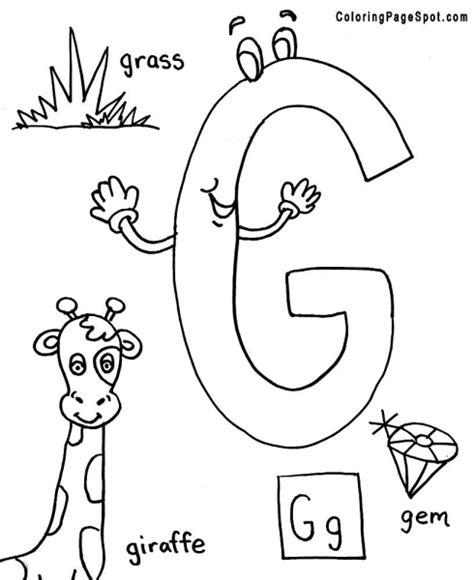 Letter G Coloring Page Coloring Pages Letter G